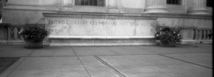 Creepy inscription on the Federal Courthouse